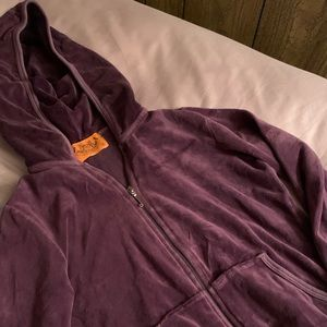 Juicy Couture Purple Zip Up Hoodie💜